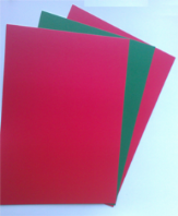 A5 Bright Green and Red Coloured Card 160GSM - 100 Sheets